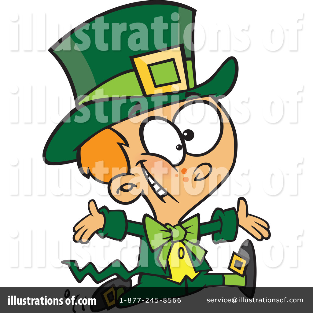 Leprechaun clipart. Illustration by toonaday royaltyfree