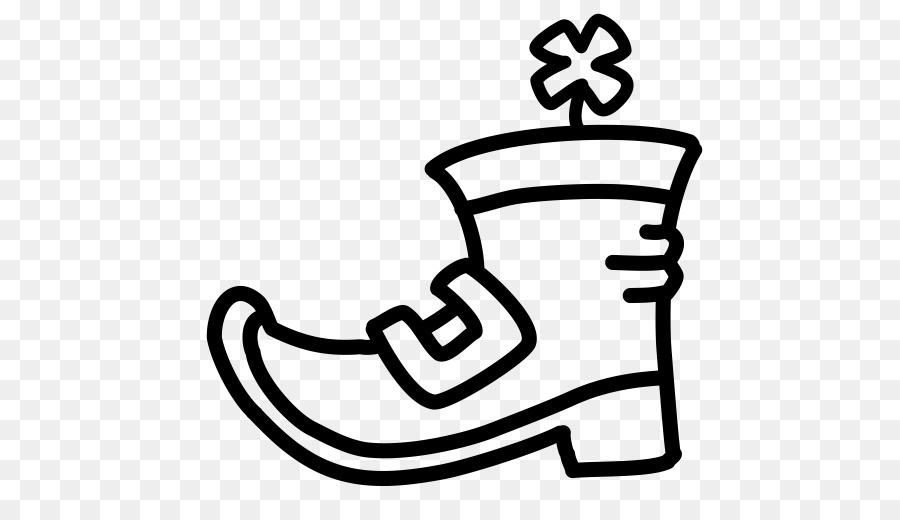 Book black and white. Leprechaun clipart boot
