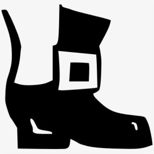 Leprechaun clipart boot. Cowboy outline clip art