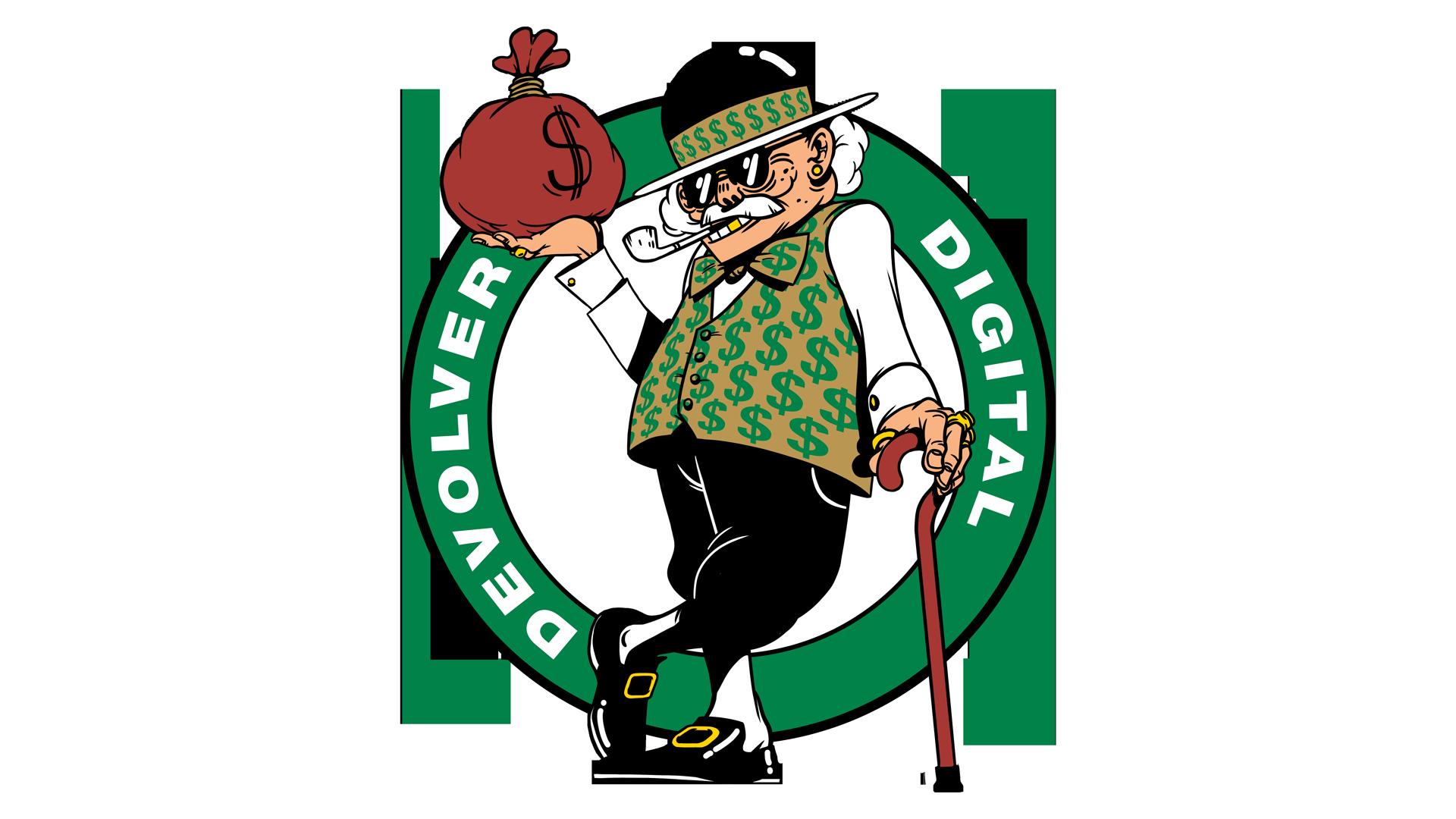 Opreem devolver tshirt illustration. Leprechaun clipart boston celtics