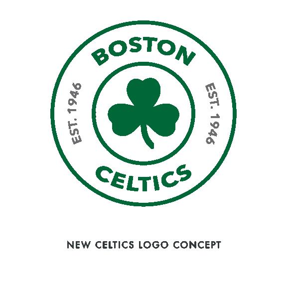 Black ego logo redesign. Leprechaun clipart boston celtics