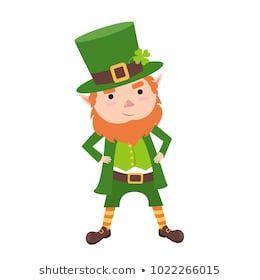 Leprechaun clipart coat. Cartoon in green frock
