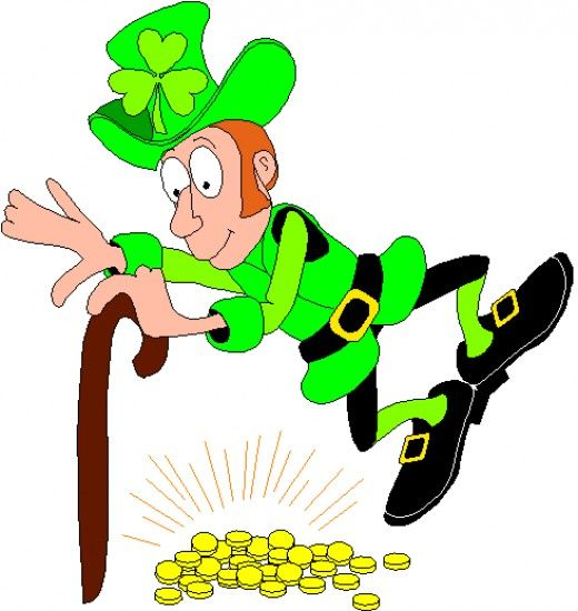 Dancing over his gold. Leprechaun clipart corned beef cabbage