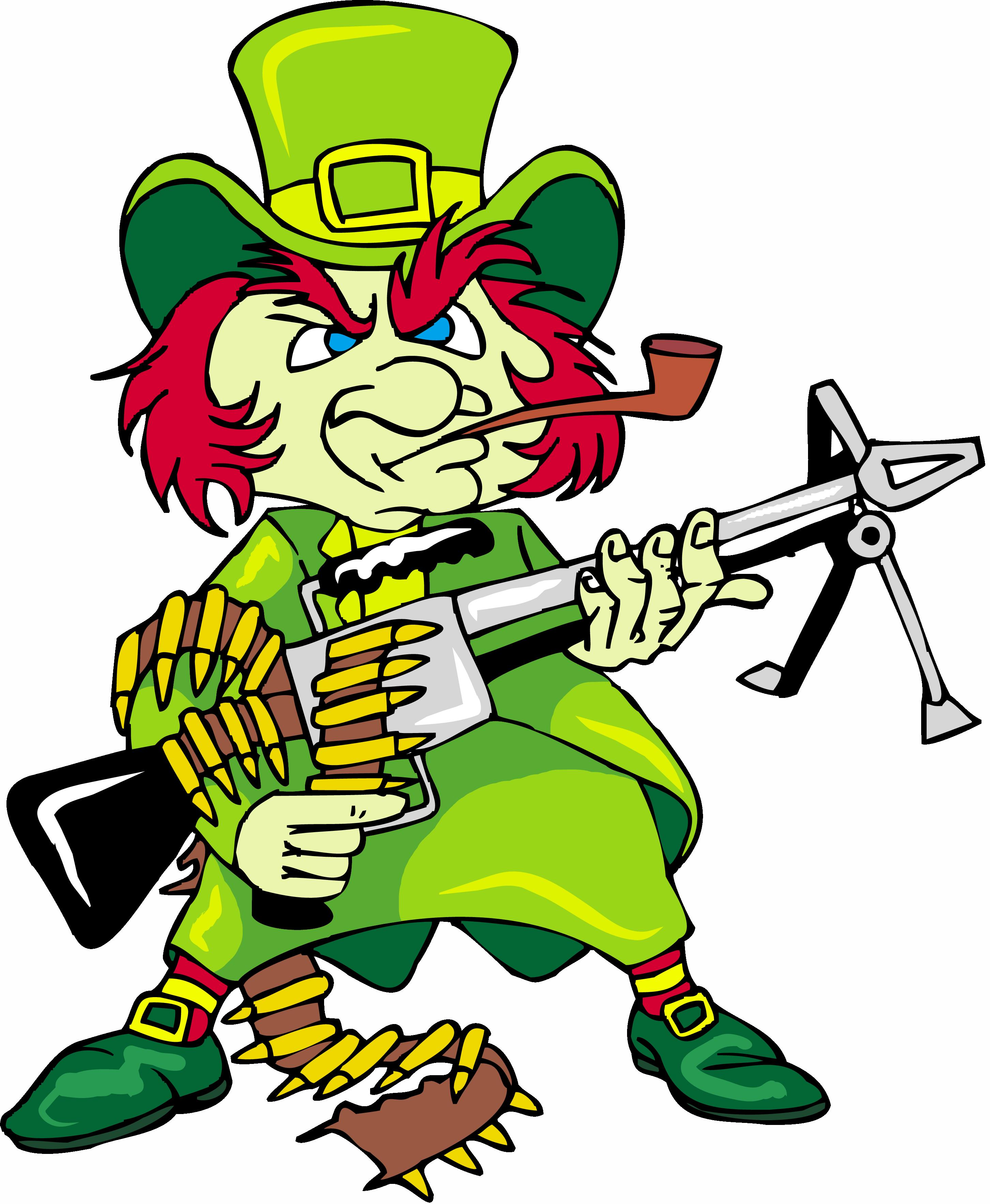 Irish dragoons regimental insignia. Leprechaun clipart famous