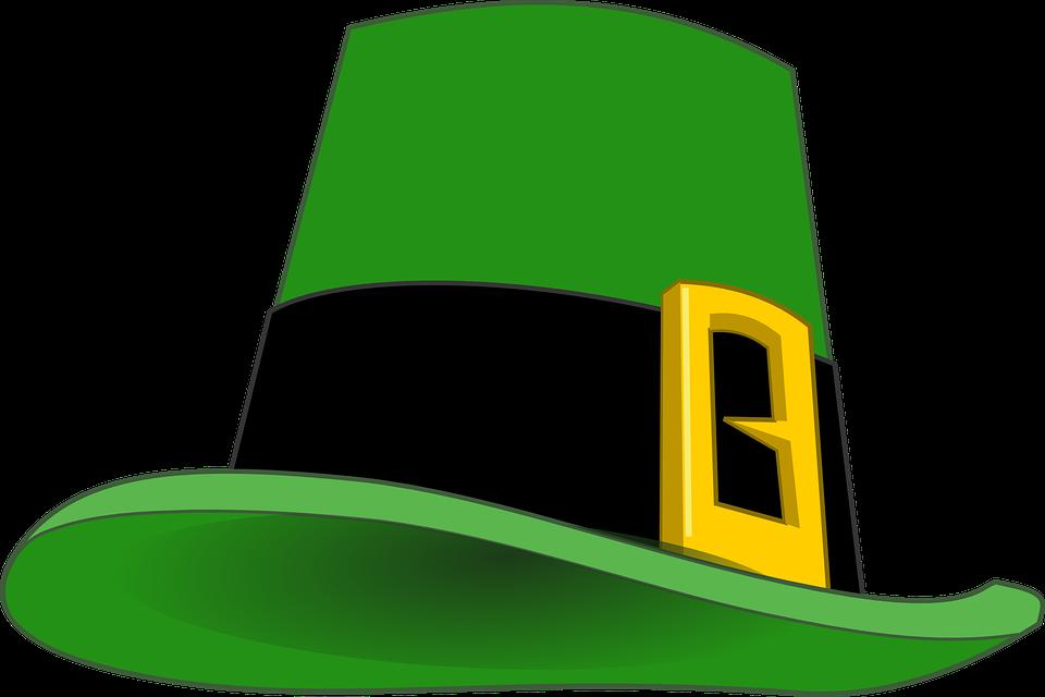 Leprechaun clipart famous. Irish hat green free
