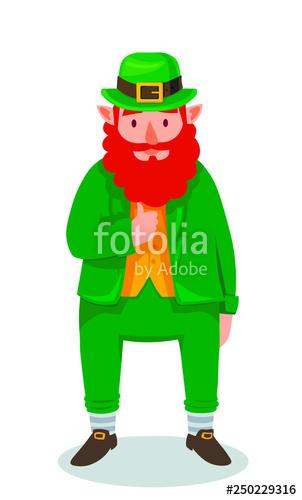 Funny cartoon doing the. Leprechaun clipart famous
