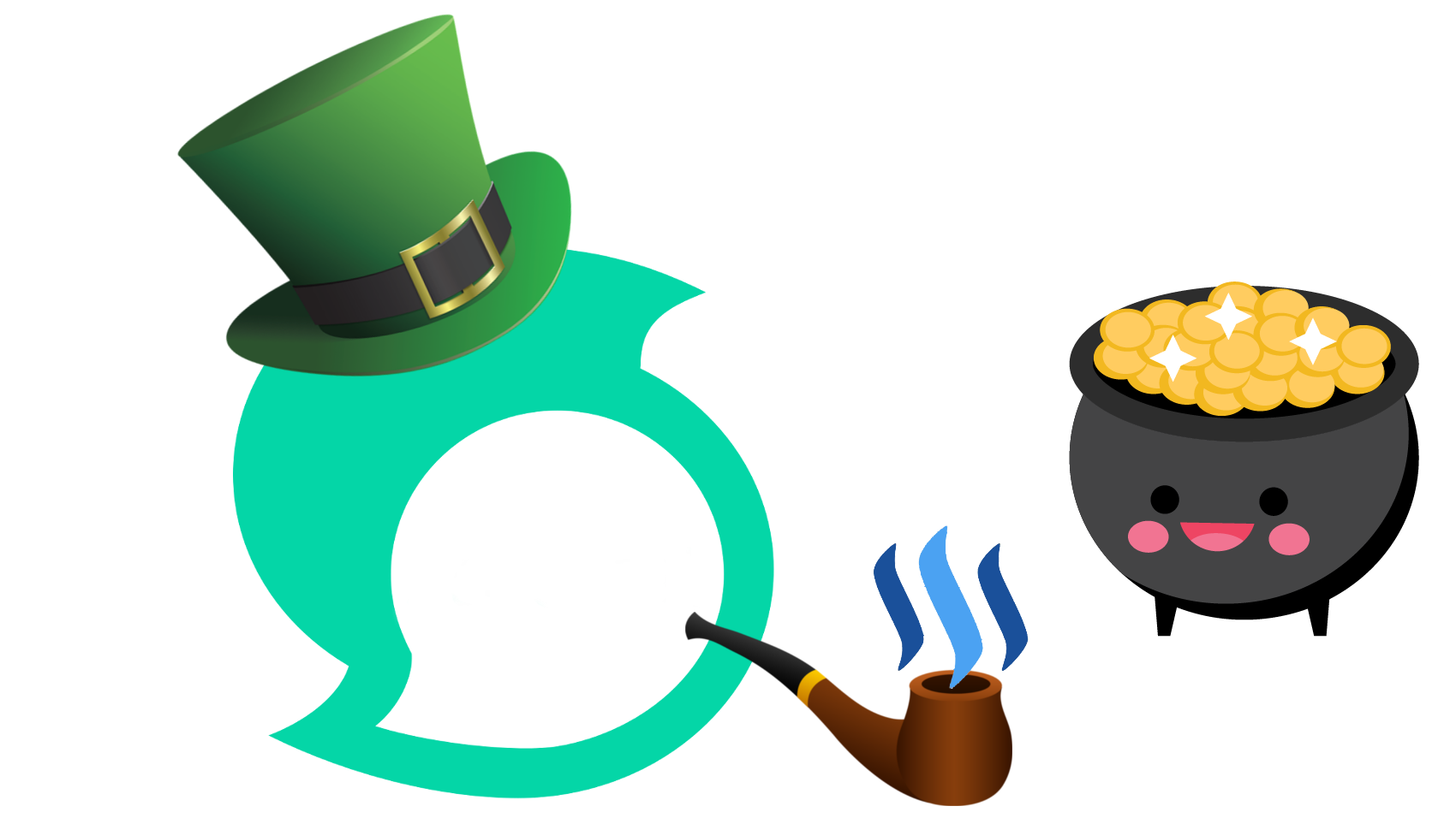 A steemerick for chilly. Leprechaun clipart greedy