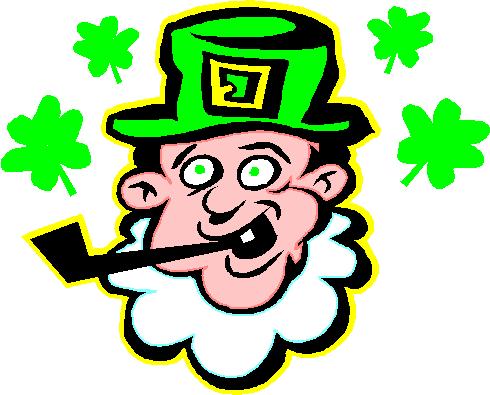 Leprechaun clipart pipe. Free public domain holiday