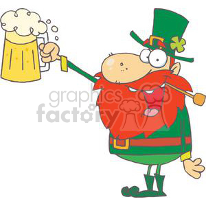 Lucky with a in. Leprechaun clipart pipe