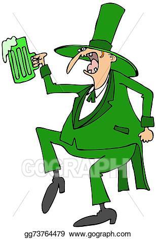 Leprechaun clipart skinny. Stock illustration dance gg