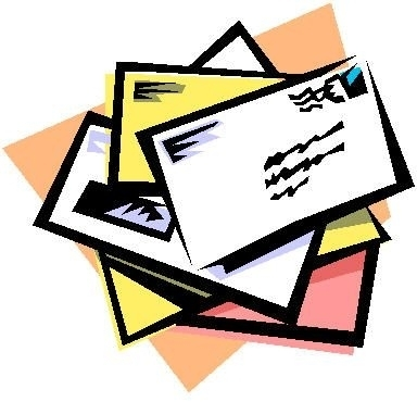 collection of mail. Letter clipart