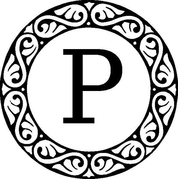 Letter p clip art. R clipart monogram