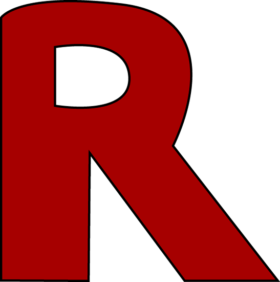 R clipart red. Free alphabet letter download