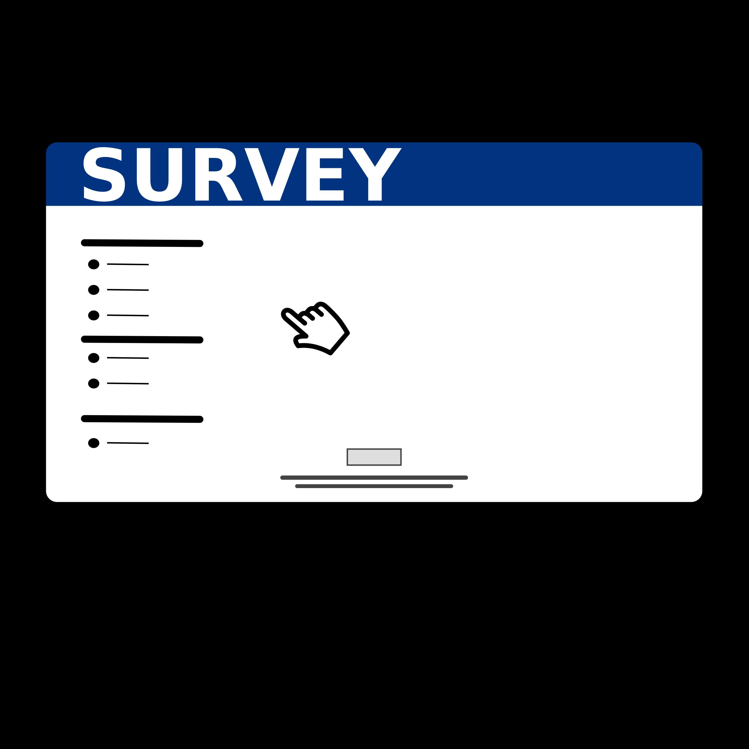 Group surveymonkey free download. Planning clipart questionnaire