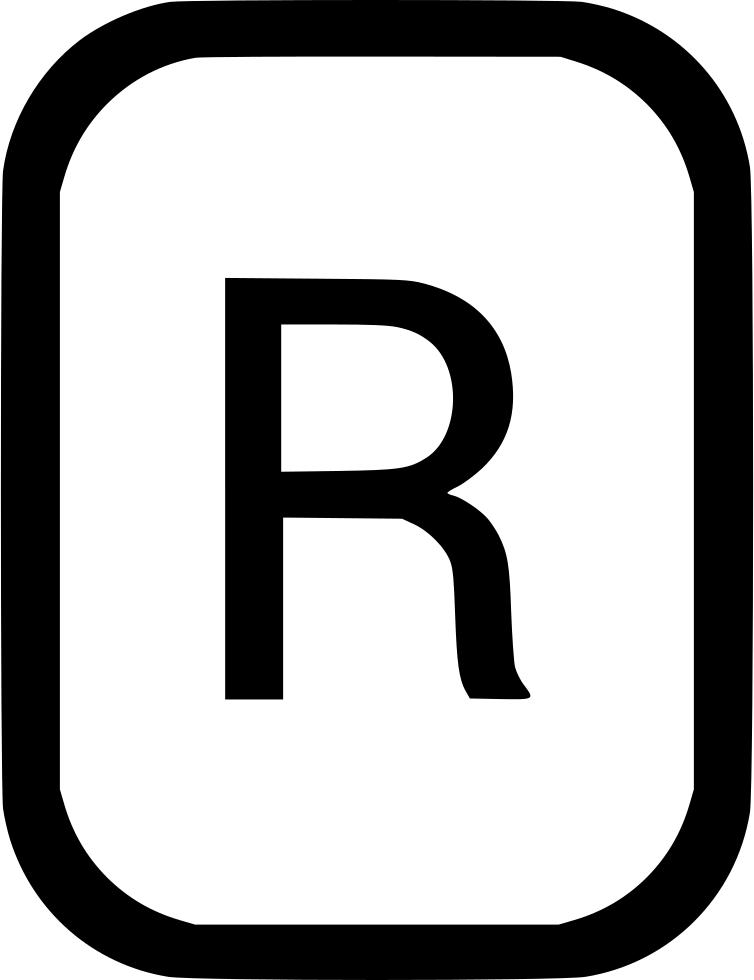 R clipart black letter. Uppercase latin alphabet svg