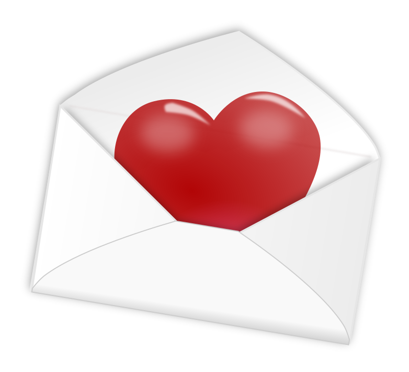 Day love letter medium. Mail clipart valentines