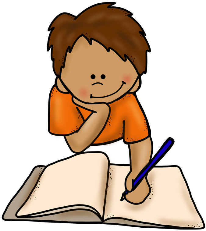 Writing a letter free. Thumb clipart kid