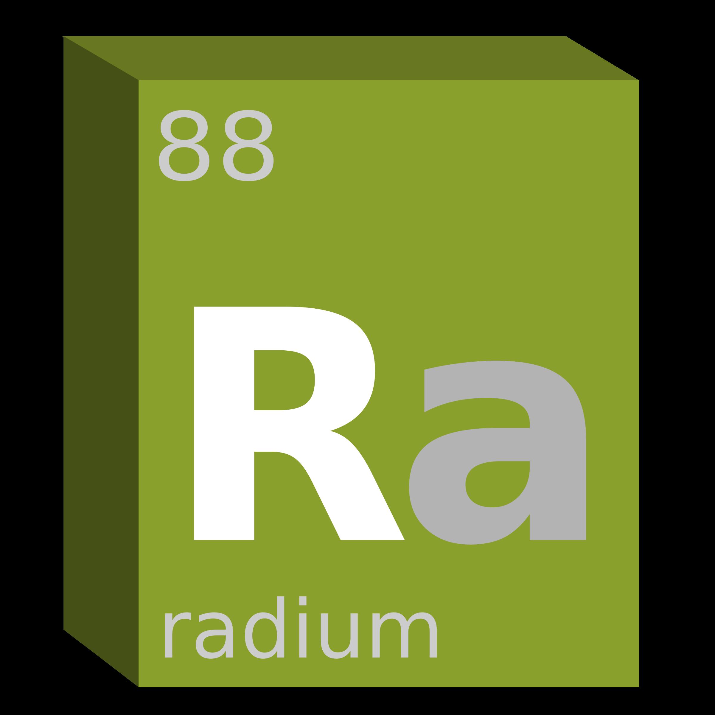 Radium ra chemistry big. Number 1 clipart block