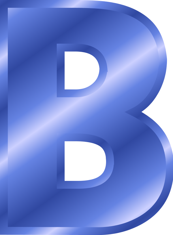 B clipart blue. Alphabet free collection download