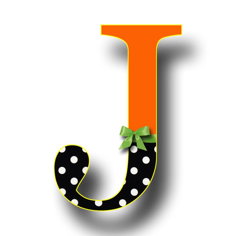 Free letter j to. R clipart individual alphabet