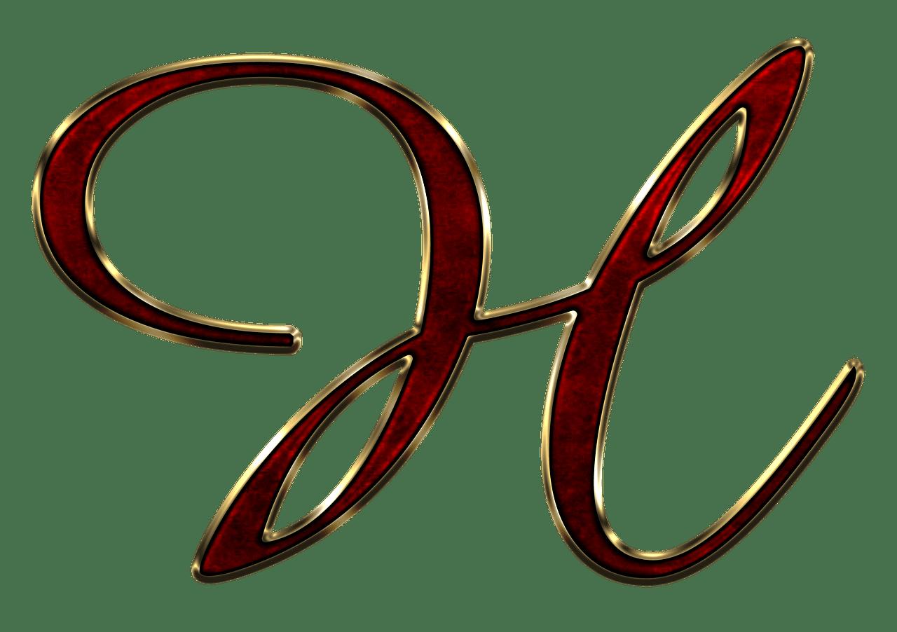 Capital letter h red. R clipart cursive r