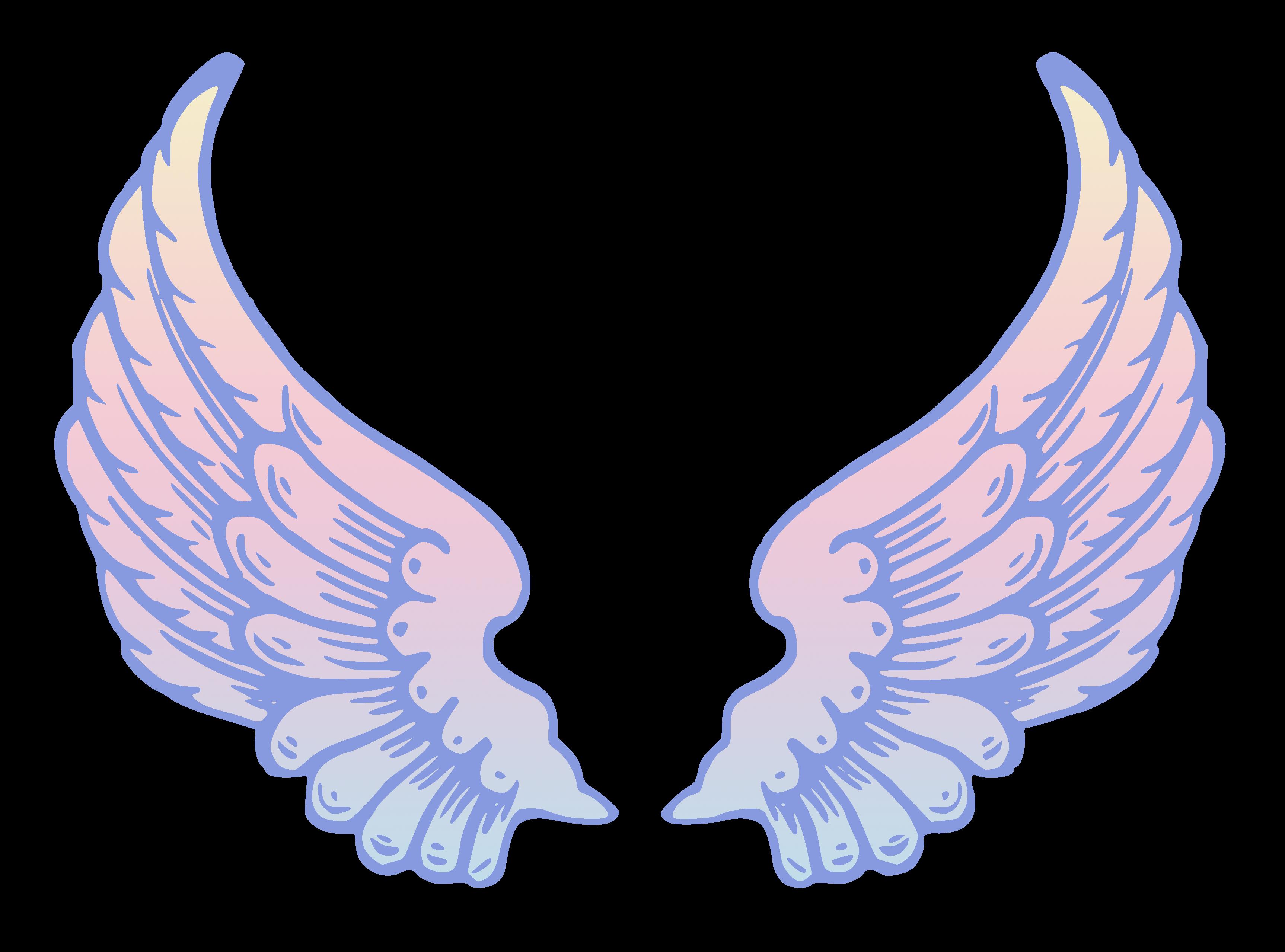 Wing clipart transparent. Angel wings bdfjade hdq