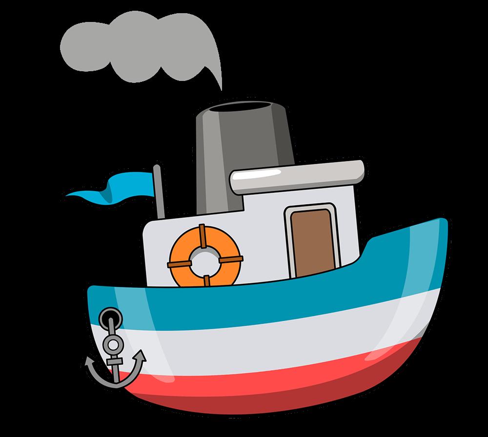 Cartoon ship frames illustrations. Battleship clipart comic