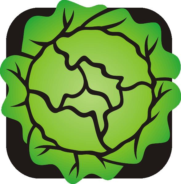 Clipartix . Lettuce clipart happy
