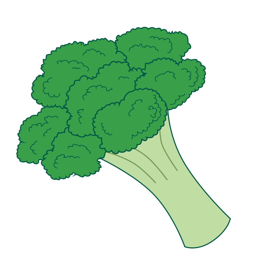 Clipart vegetables broccoli. Cabbage panda free images