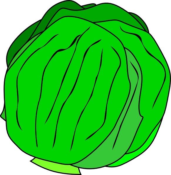 Whole clip art free. Lettuce clipart