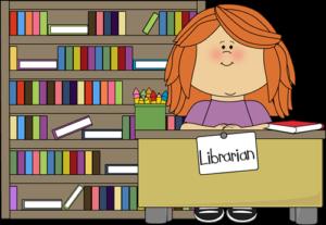 Librarian clipart. Library girl classroom clip
