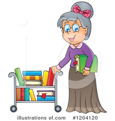 Illustration by visekart royaltyfree. Librarian clipart