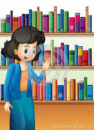 Librarian clipart. Stock illustrations vectors dreamstime