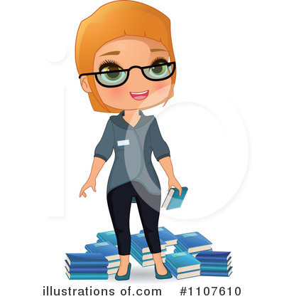 Illustration by melisende vector. Librarian clipart