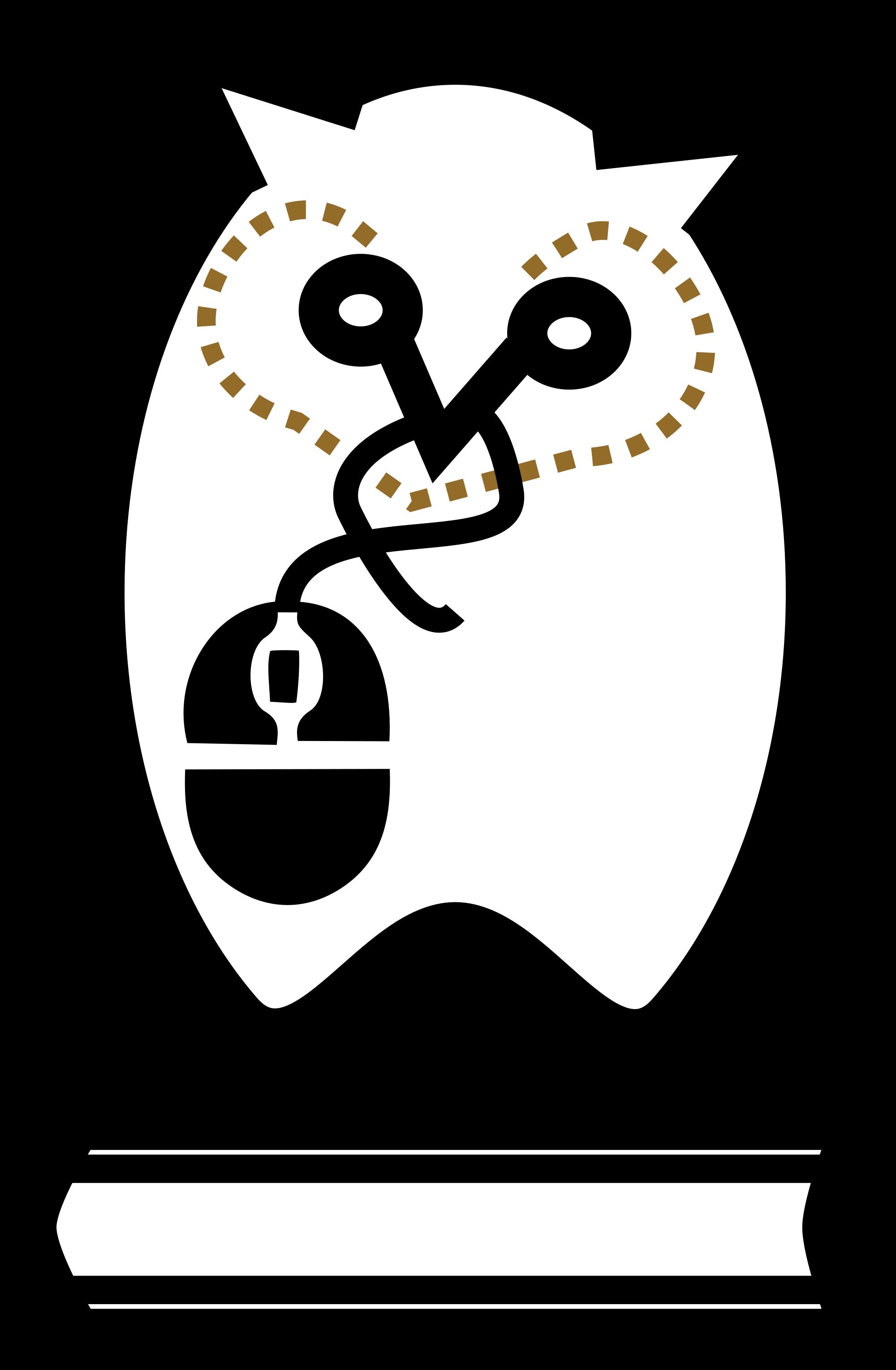 Owl library romeo landinez. Newspaper clipart newspaper clipping