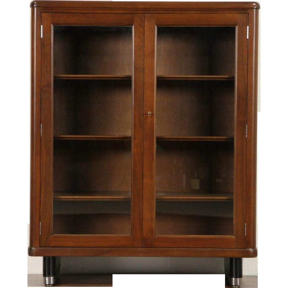 Stow davis signed walnut. Librarian clipart bookshelve