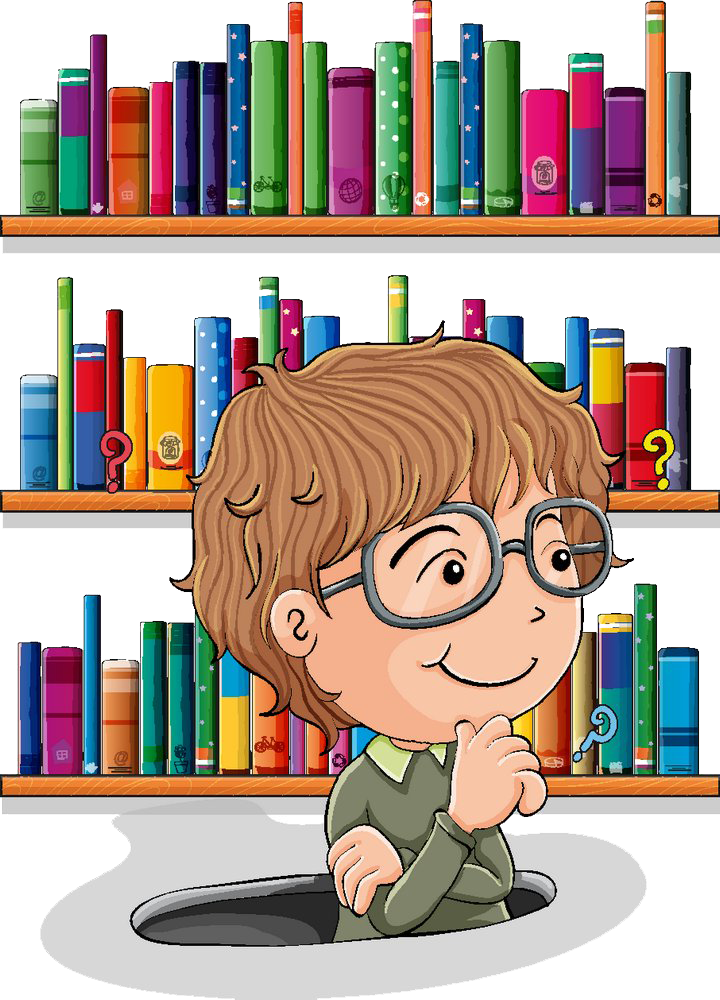 Library royalty free clip. Thoughts clipart human thinking