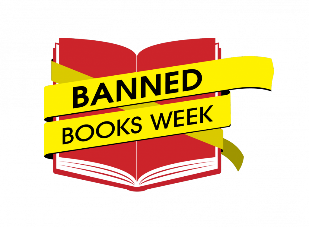 Libraries highlight banned books. Librarian clipart bookstore retail