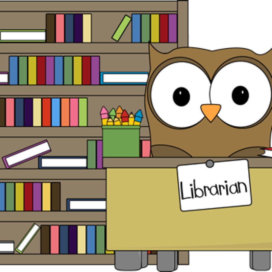 Cartoon book transparent clip. Librarian clipart library day