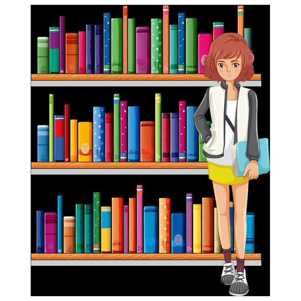 Librarian clipart old school. Library clip art cartoon