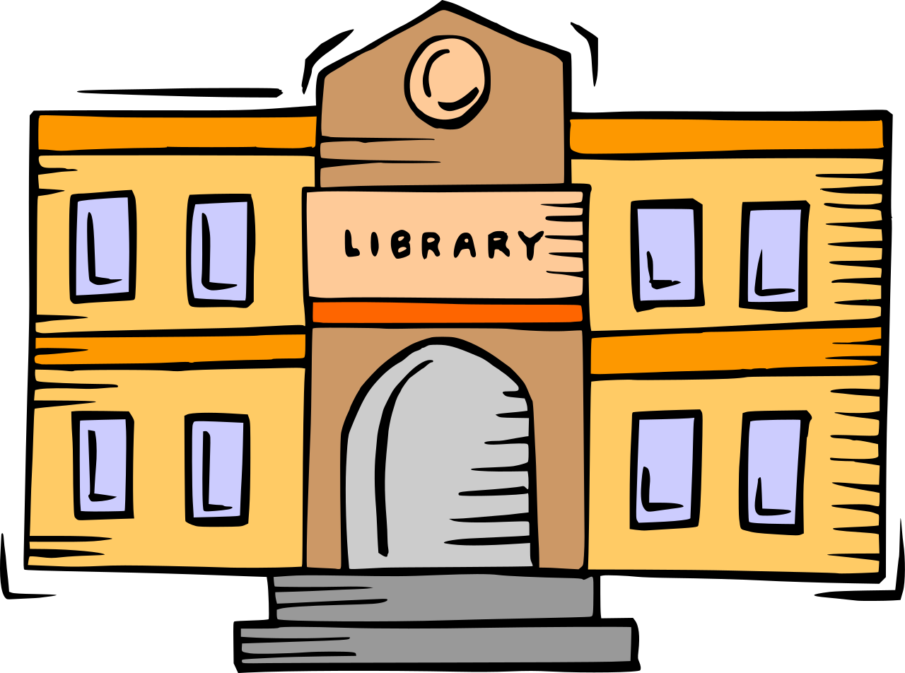 File building svg wikimedia. Librarian clipart public library