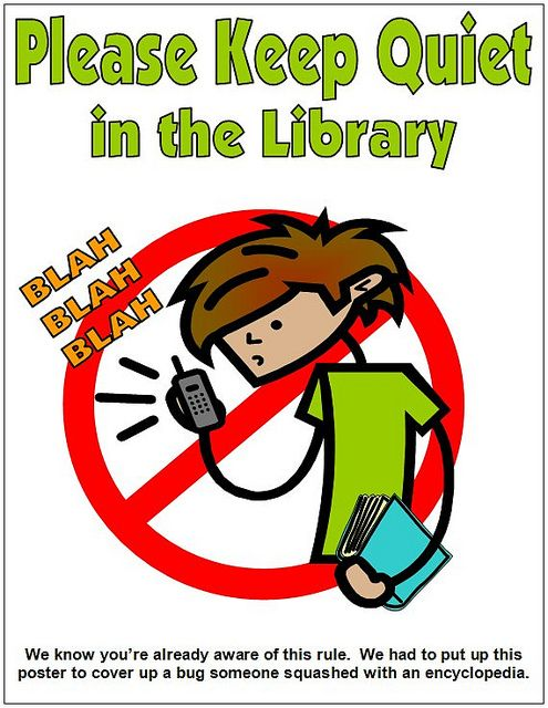 Printables library signage . Librarian clipart quiet
