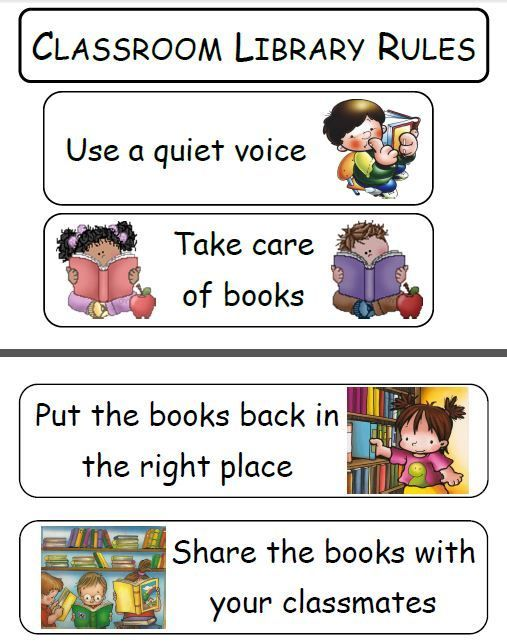 Organized clipart library rule. Rules classroom