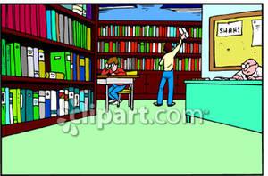 Librarian clipart school facility. Library clip art borders