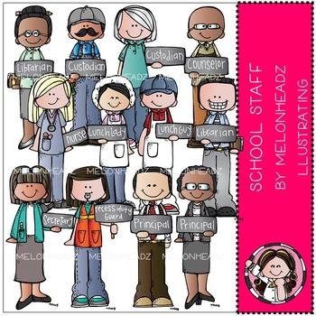 Staff clip art combo. Librarian clipart school personnel