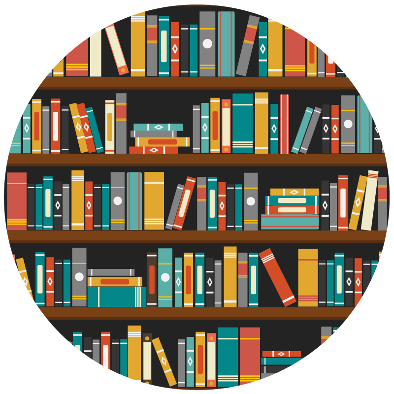 Sharing epic community library. Librarian clipart shelve