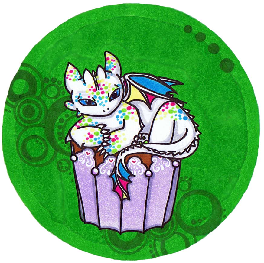 Cute icing dragon cupcake. Library clipart library closed