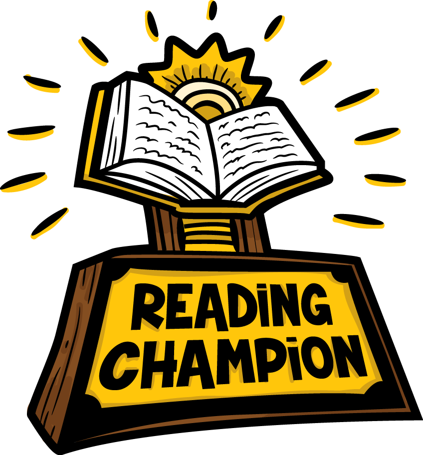Reading book child prize. Library clipart public library