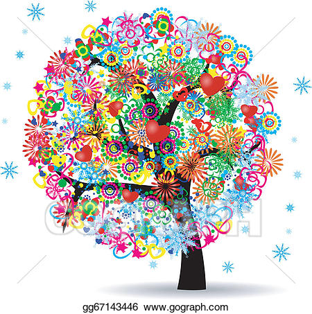 Life clipart. Eps vector the tree