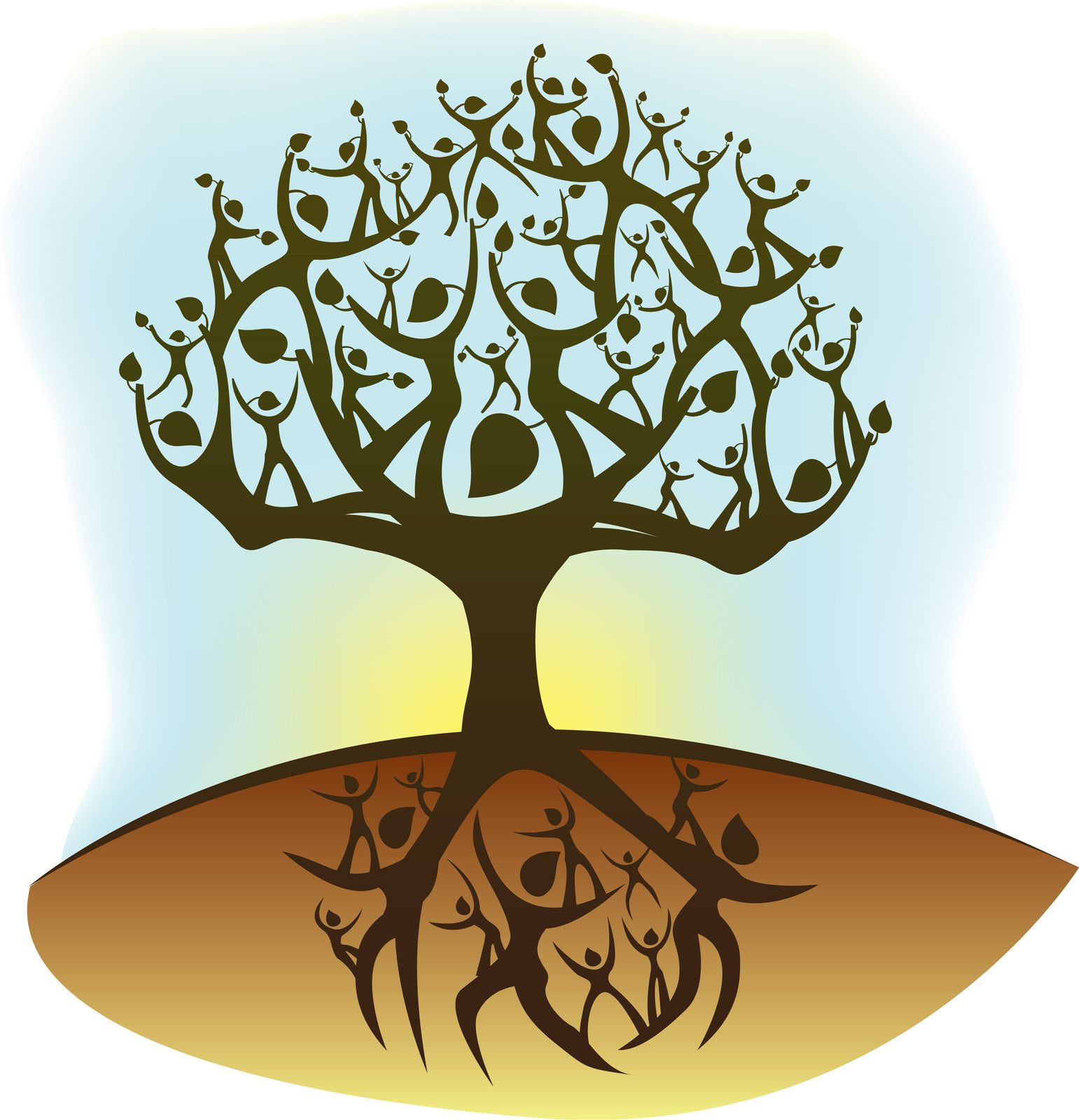 Tree of google search. Life clipart